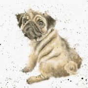 Wrendale Pug Love Dog Greeting Card